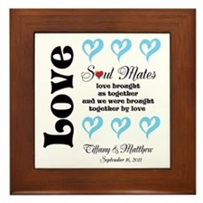 Customizable Soul Mates Framed Tile