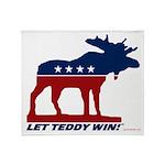 Bull Moose Throw Blanket