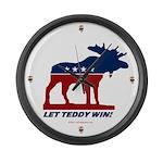 Bull Moose Let Teddy Win Clock - LARGE