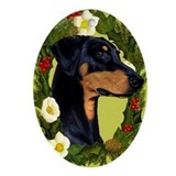 Doberman Ornament (Oval)