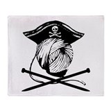 Yarn Pirate Throw Blanket