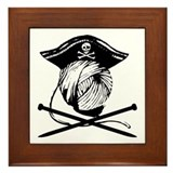 Yarn Pirate Framed Tile