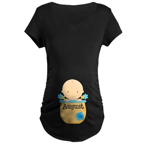 August Baby Boy Maternity Dark T-Shirt