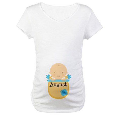 August Baby Boy Maternity T-Shirt