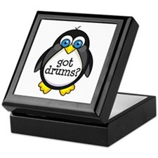 Drums Music Penguin Keepsake Box