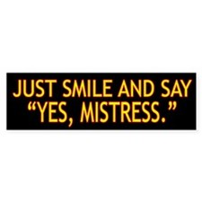Mistress Bumper Sticker