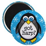 Harp Music Penguin Magnet
