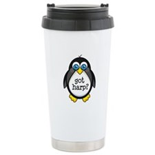Harp Music Penguin Ceramic Travel Mug