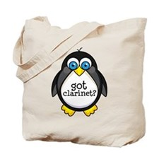 Clarinet Music Penguin Tote Bag