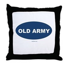 Old Army Dad Throw Pillow
