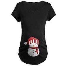 Snowman Christmas Maternity T-Shirt