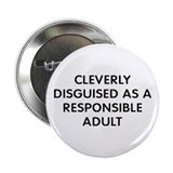 "Cleverly Adult 2.25"" Button"