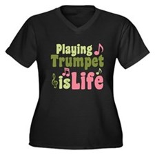 Playing Trumpet is Life Women's Plus Size V-Neck D