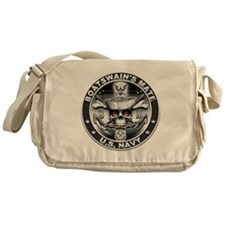 USN Boatswains Mate BM Skull Messenger Bag