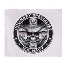 USN Culinary Specialist CS Sk Throw Blanket