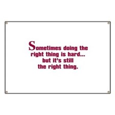 Doing the Right Thing Banner