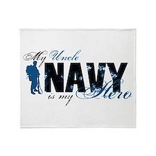 Uncle Hero3 - Navy Throw Blanket