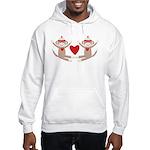 Couples Sock Monkey Hooded Sweatshirt