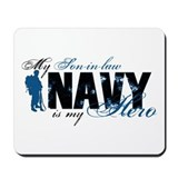 Son-in-law Hero3 - Navy Mousepad