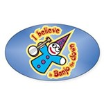 I Believe in Banjo Sticker (Oval)
