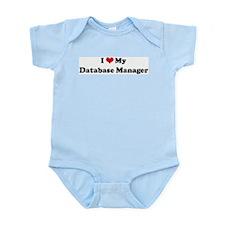 I Love Database Manager Infant Creeper