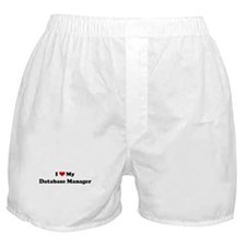 I Love Database Manager Boxer Shorts
