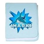 Sharks Team baby blanket