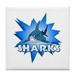 Sharks Team Tile Coaster