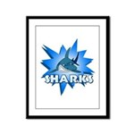 Sharks Team Framed Panel Print