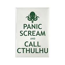 Panic Scream and Call Cthulhu Rectangle Magnet
