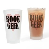 Book Geek Drinking Glass
