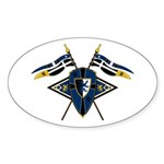 Medieval Shield Graphic Sticker (Oval 10 Pk)