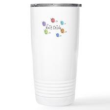 Knit Chick w/yarn around Travel Mug