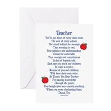 Teacher Thank You Greeting Cards (Pk of 20)