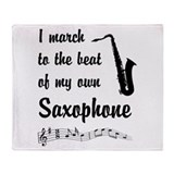 March to the Beat: Saxophone Throw Blanket