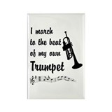 March to the Beat: Trumpet Rectangle Magnet