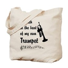 March to the Beat: Trumpet Tote Bag