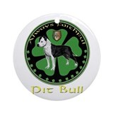 always faithful pit bull amstaff Ornament (Round)