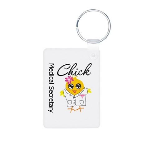 Medical Secretary Chick Aluminum Photo Keychain