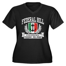 Federal Hill Italian Women's Plus Size V-Neck Dark