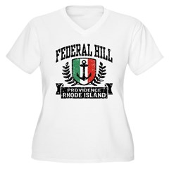 Federal Hill Italian Women's Plus Size V-Neck T-Sh