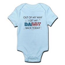 Cute Military homecoming Infant Bodysuit