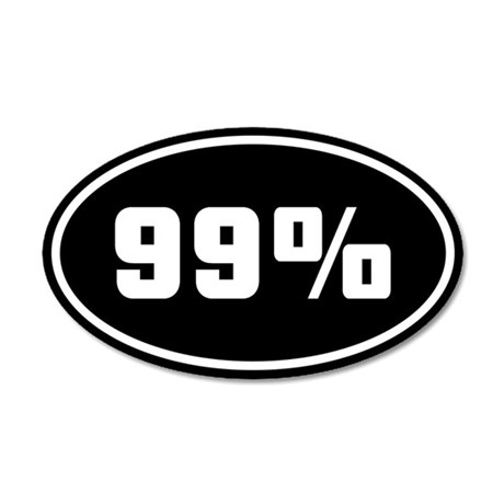 99% [o] 22x14 Oval Wall Peel