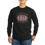 1912 Vintage (Red) Long Sleeve Dark T-Shirt