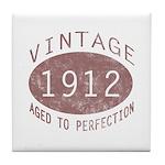 1912 Vintage (Red) Tile Coaster