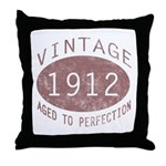 1912 Vintage (Red) Throw Pillow
