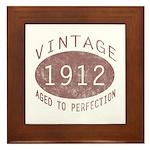 1912 Vintage (Red) Framed Tile