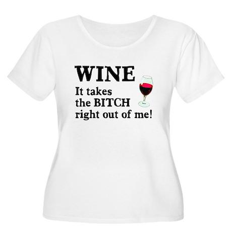 No Bitch Just Wine Women's Plus Size Scoop Neck T-
