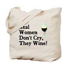 Real Women Wine Tote Bag