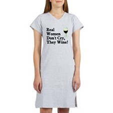 Real Women Wine Women's Nightshirt